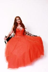 Courtney Orange Prom Single